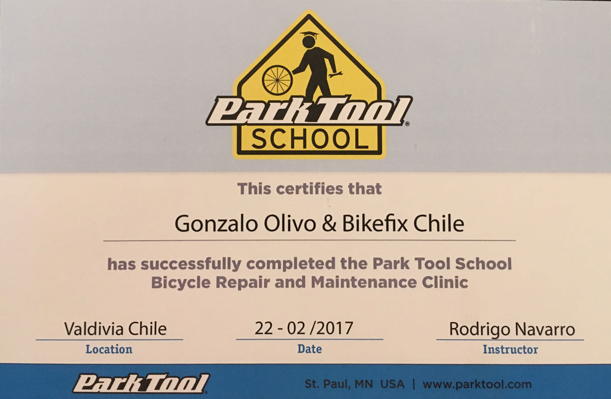 certificación reparación bicicletas